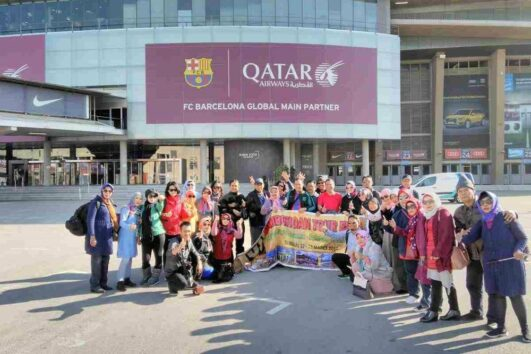 Muslim Travelers group Camp Nou - Barcelona Tour - Ilimtour Travels