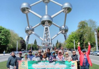Amazin Atomium in Brussels Europe Tour Muslim Traveler