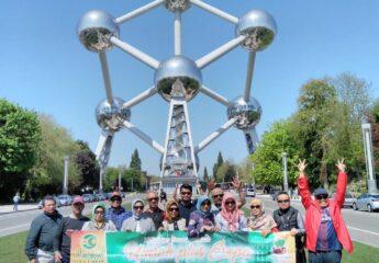 Amazin Atomium in Brussels Europe Tour Muslim Traveler